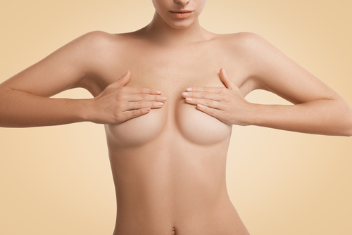 Woman with breast procedure